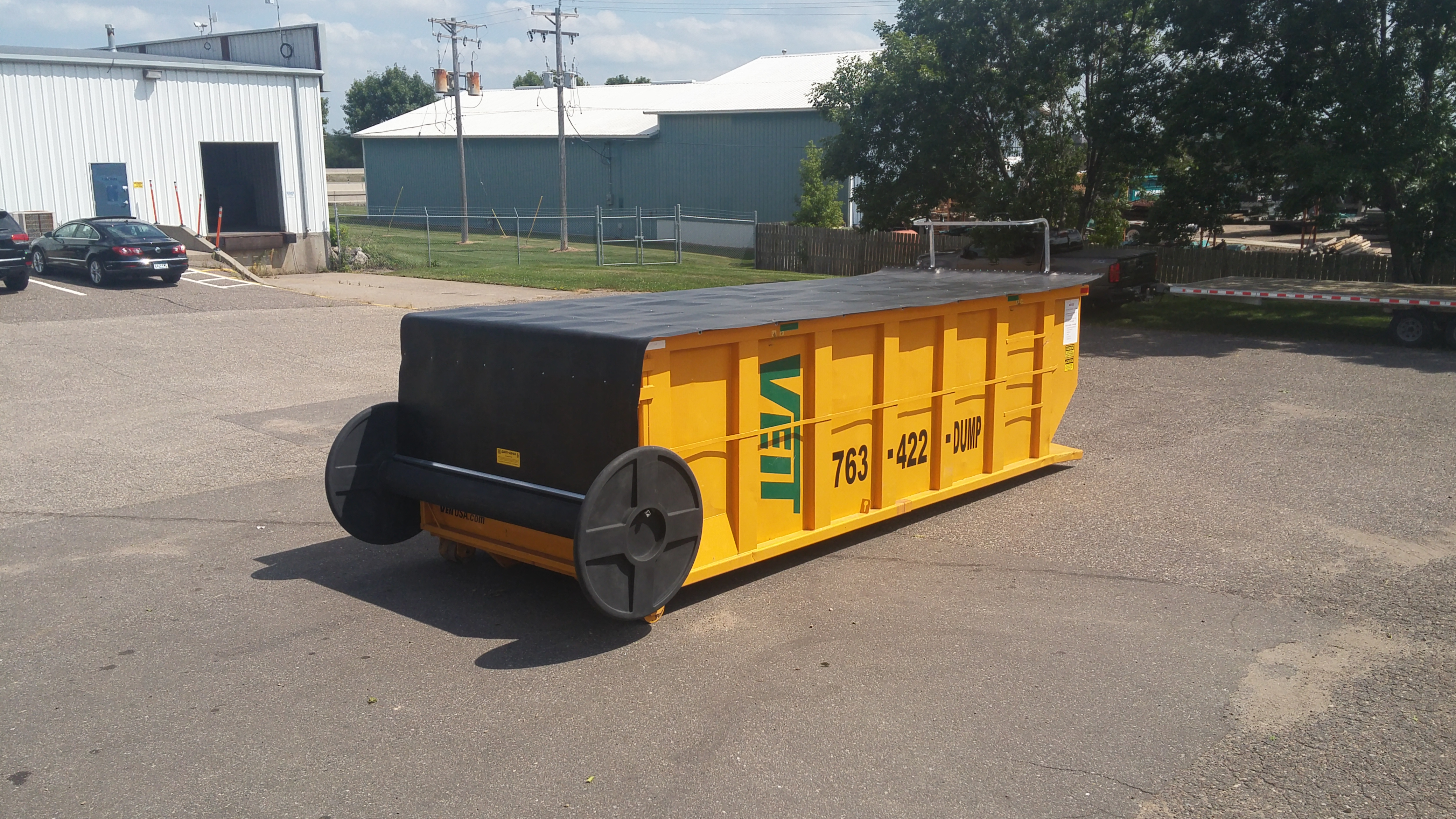 Roll Off Container Covers By Tb Industries Inc Easy To
